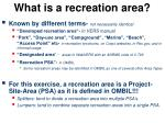 what is a recreation area