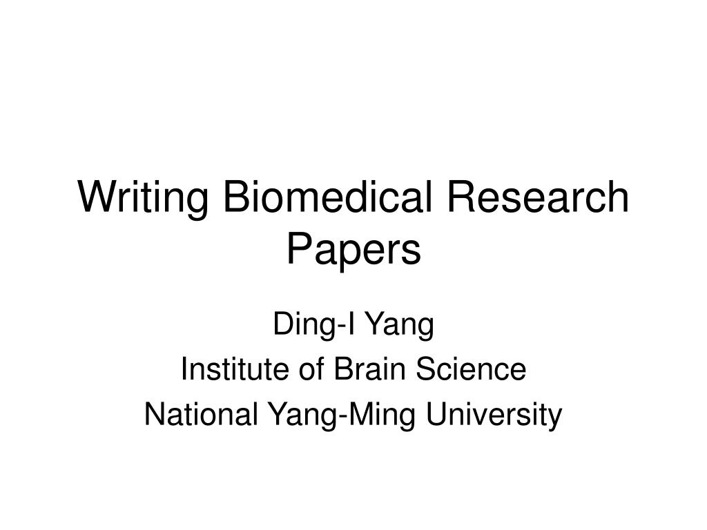 writing biomedical research papers l.