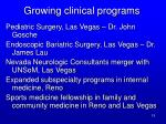 growing clinical programs