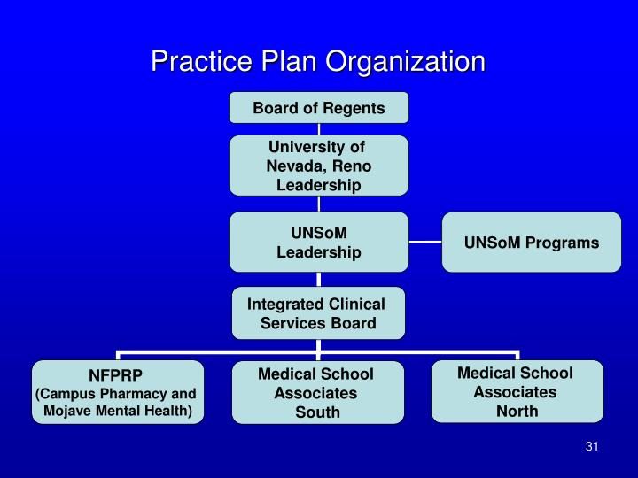 Practice Plan Organization