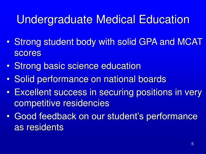 Undergraduate Medical Education