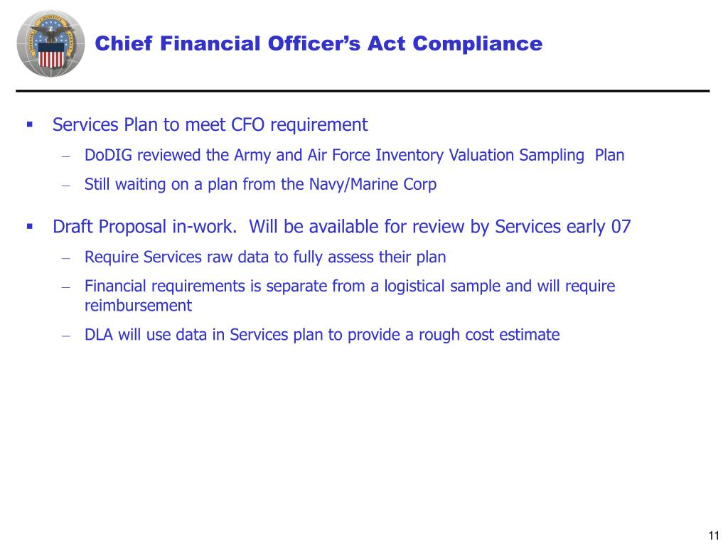 Chief Financial Officer's Act Compliance
