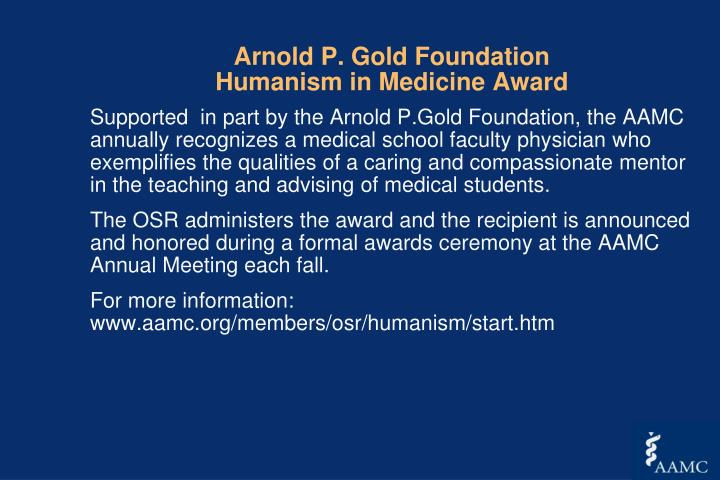 Arnold P. Gold Foundation