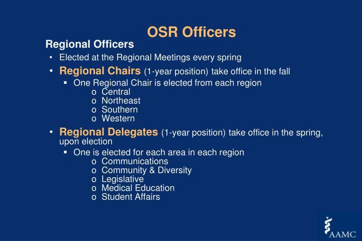OSR Officers