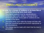 enrollment residence14