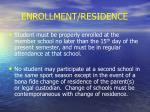 enrollment residence16