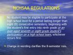 nchsaa regulations20