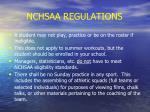 nchsaa regulations23