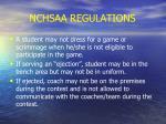 nchsaa regulations24