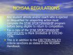 nchsaa regulations29