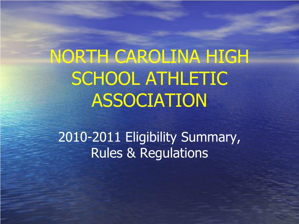 north carolina high school athletic association l.