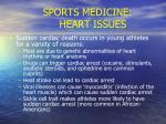sports medicine heart issues