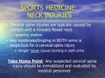 sports medicine neck injuries