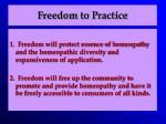 freedom to practice