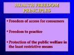 health freedom principles51