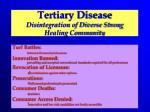 tertiary disease disintegration of diverse strong healing community
