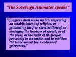 the sovereign animator speaks