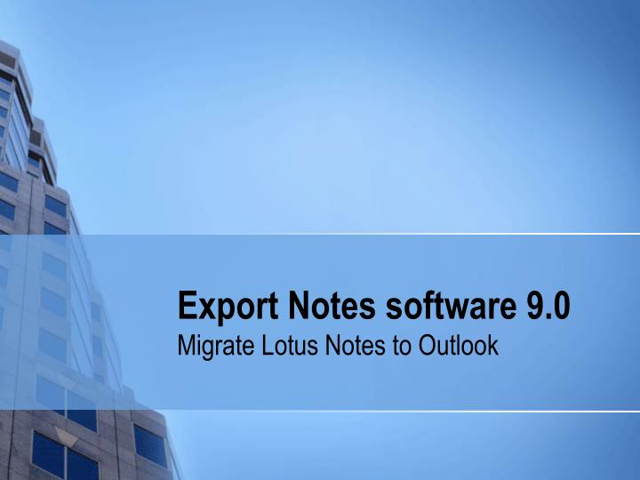 export notes software 9 0 n.