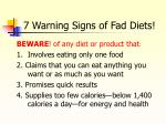 7 warning signs of fad diets