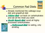 common fad diets