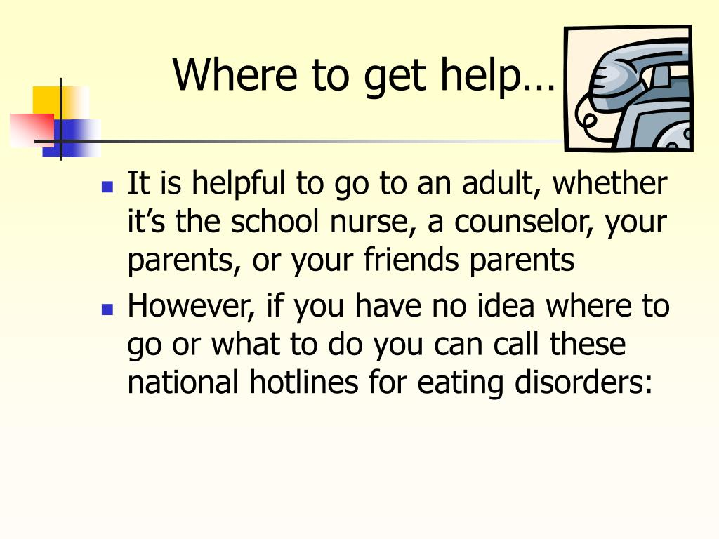 Where to get help…