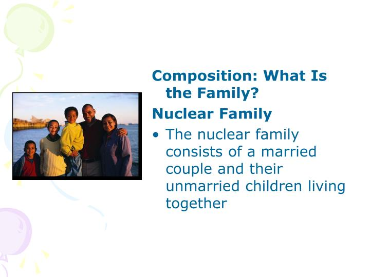 nuclear family consists of