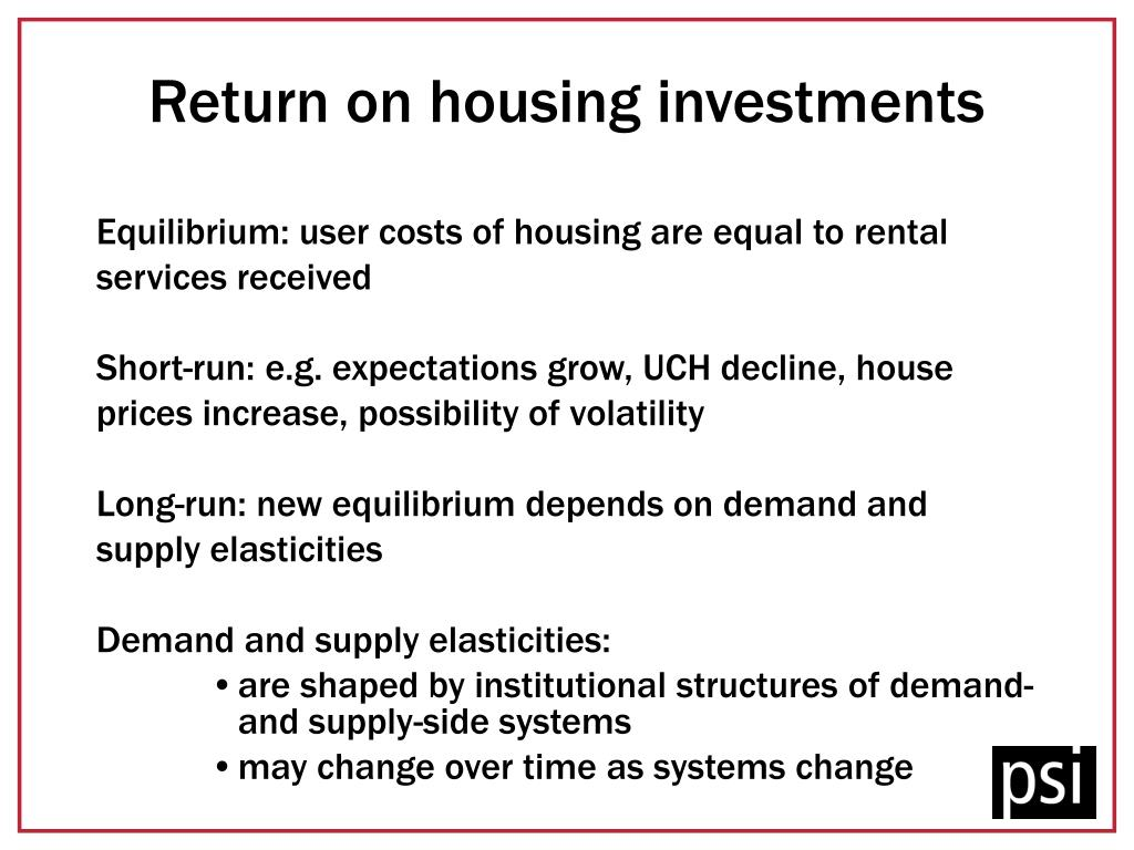 Return on housing investments