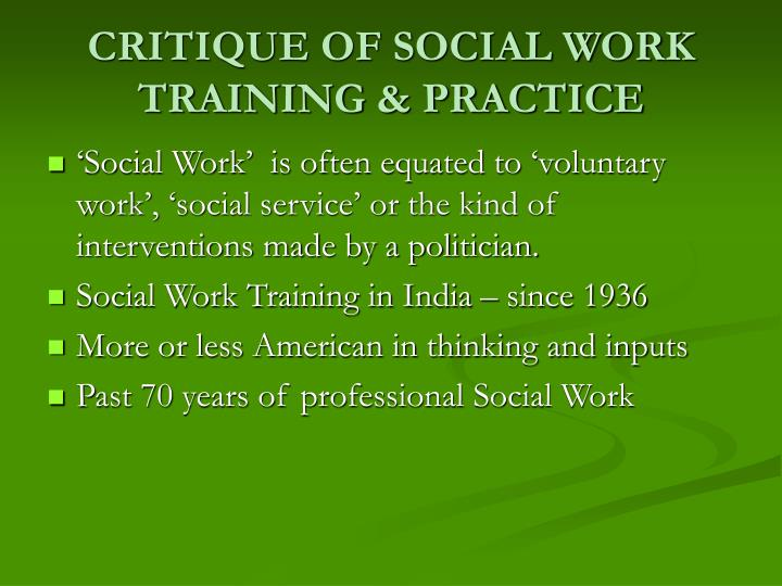 Critique of social work training practice