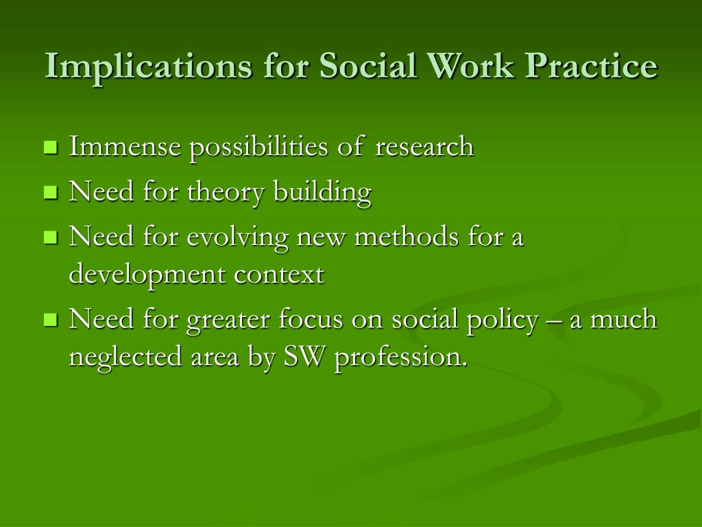 Implications for Social Work Practice