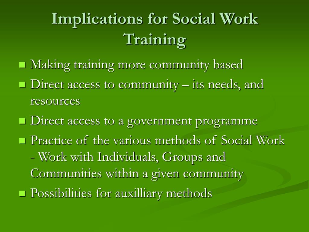 Implications for Social Work Training