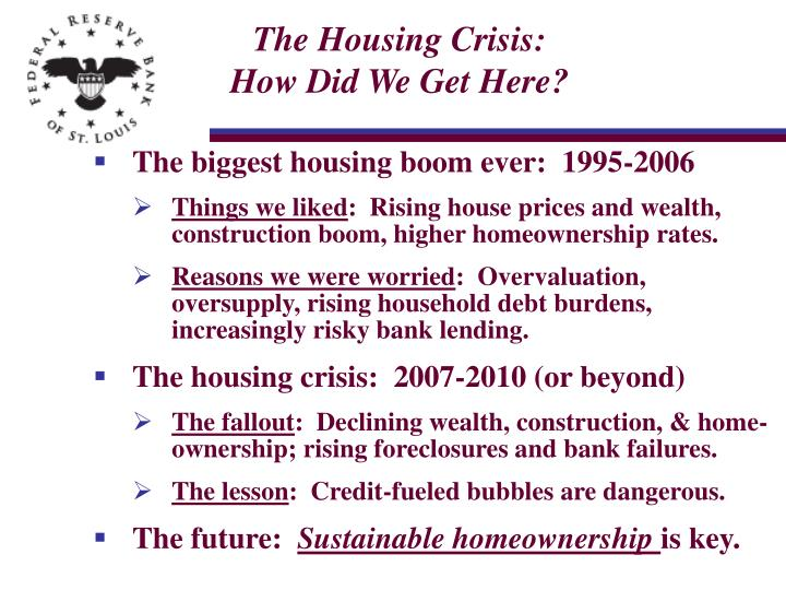 The Housing Crisis: