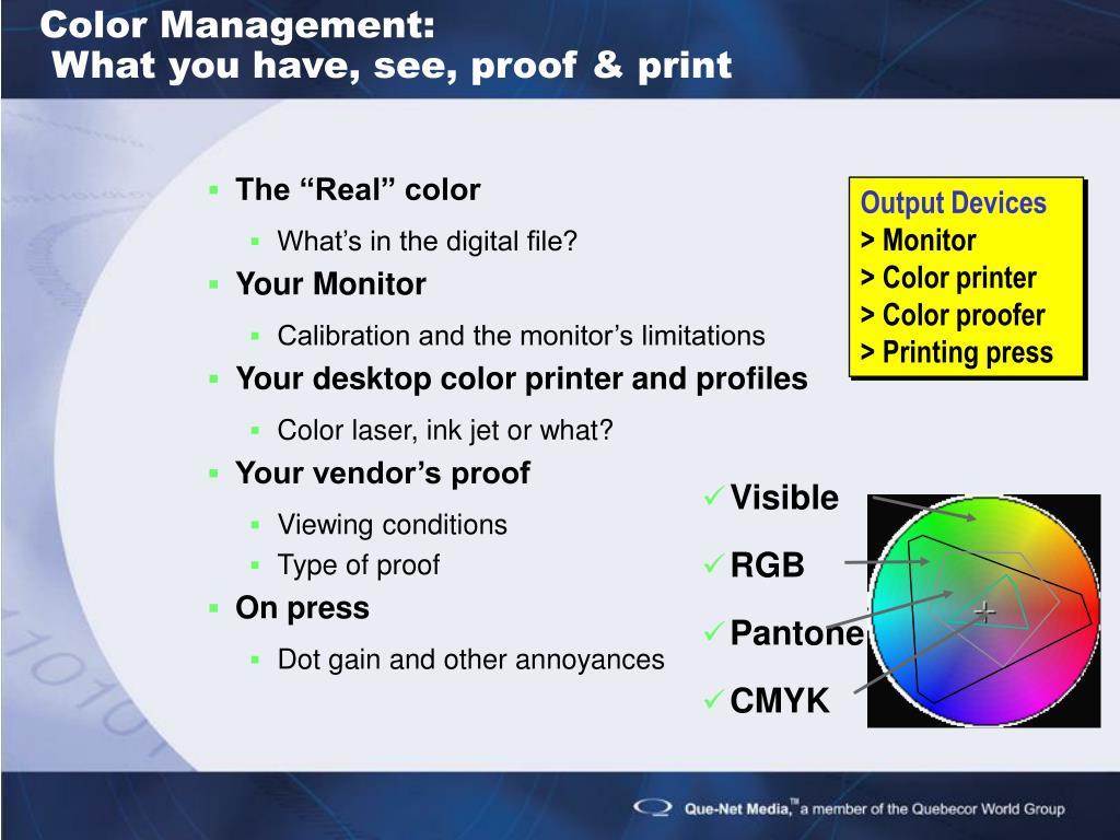 Color Management: