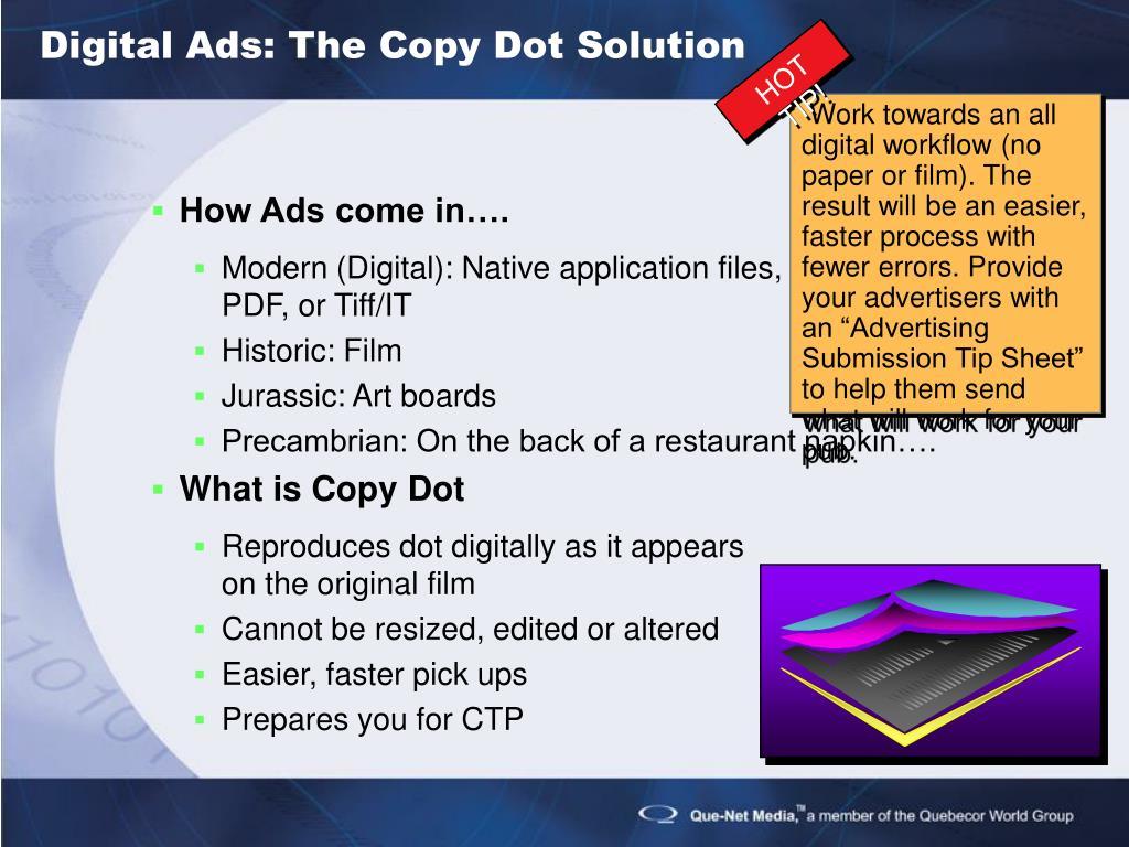 Digital Ads: The Copy Dot Solution