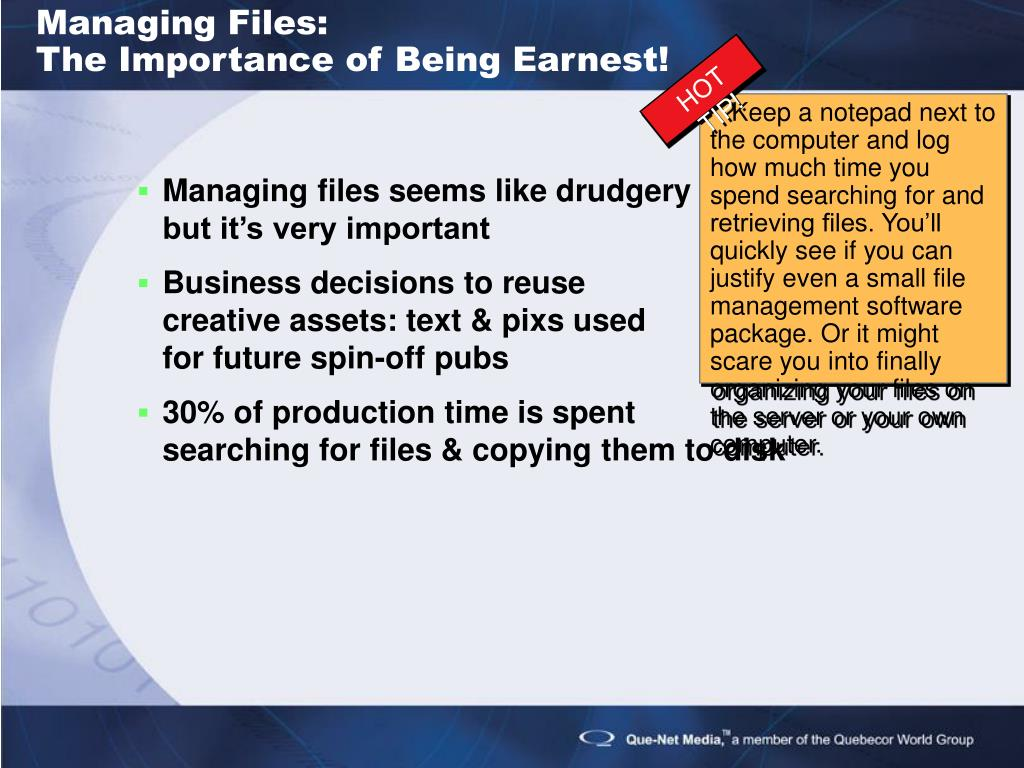 Managing Files: