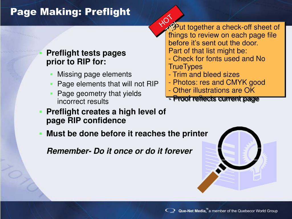 Page Making: Preflight