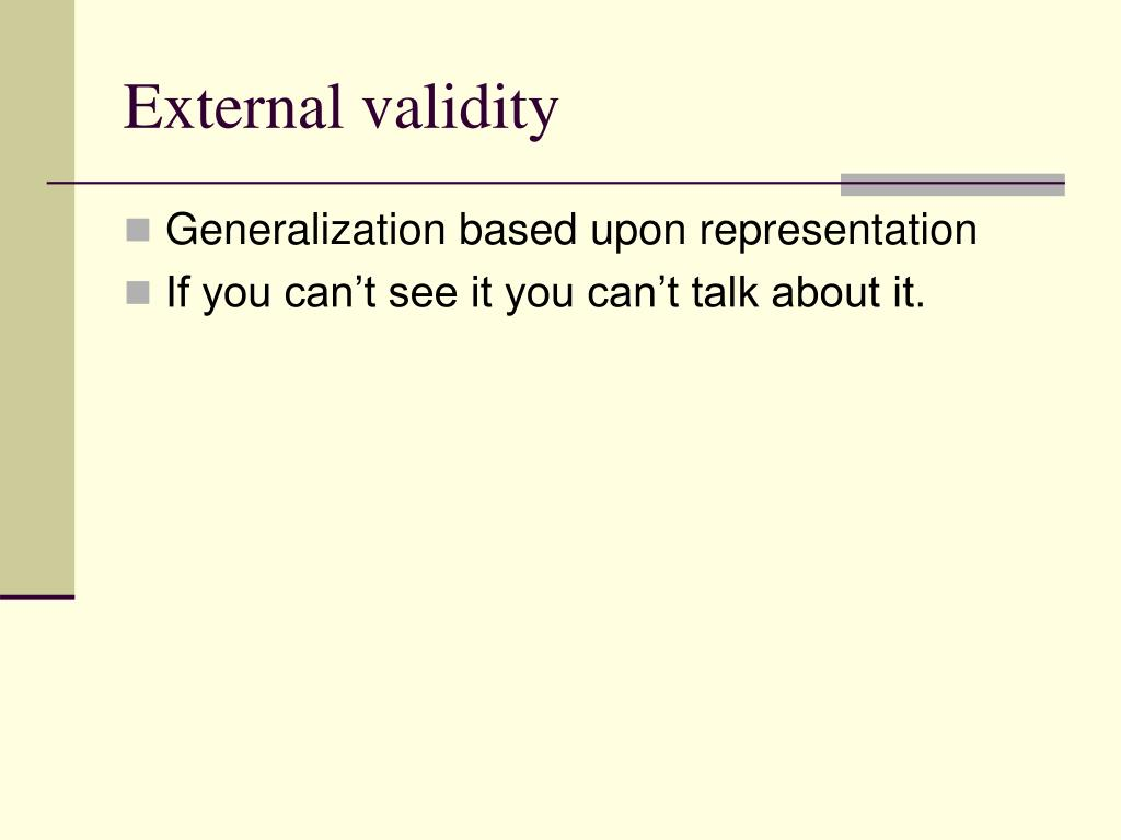 external validity l.
