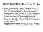 some important mouse event tips