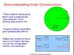 data embedding code constructions