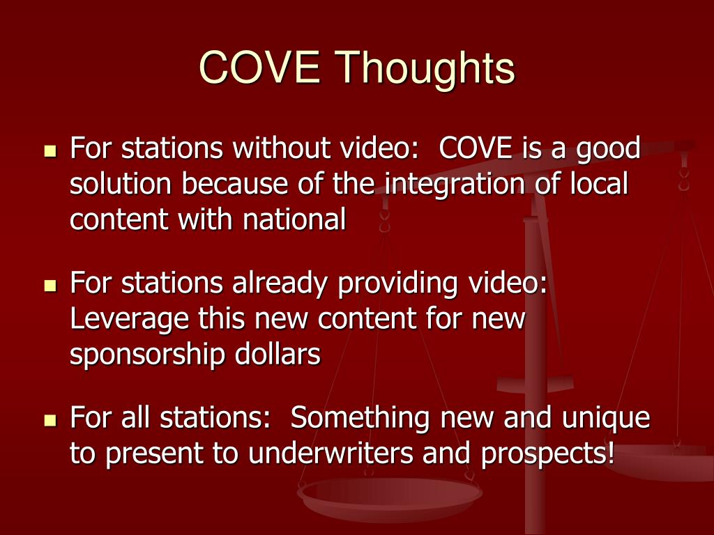 COVE Thoughts