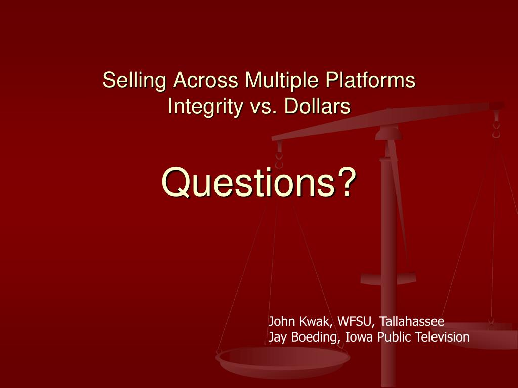 Selling Across Multiple Platforms