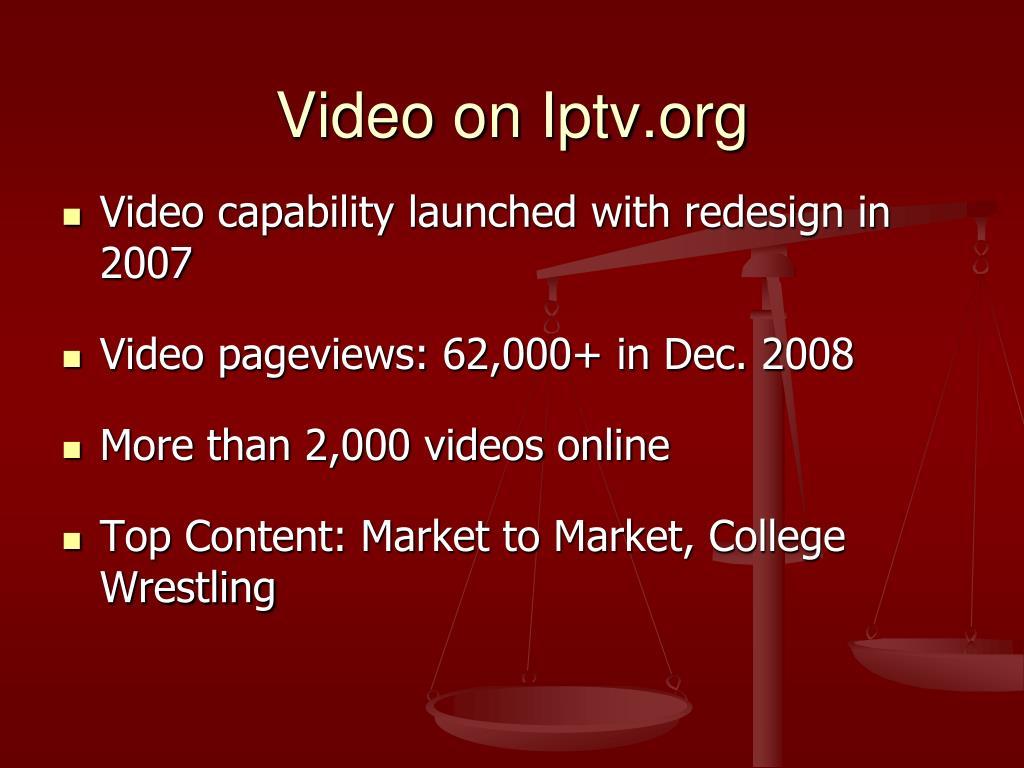 Video on Iptv.org