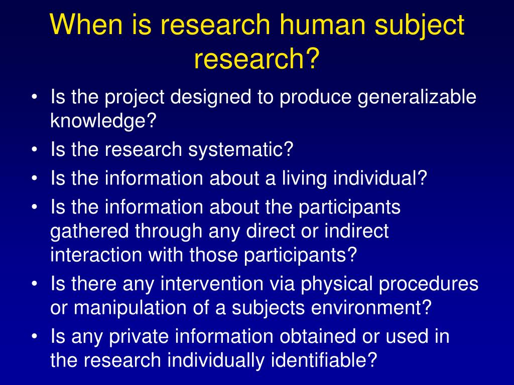 When is research human subject research?