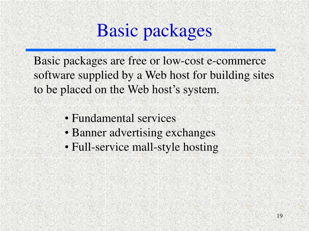 Basic packages