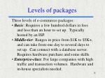 levels of packages