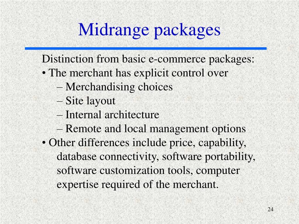 Midrange packages