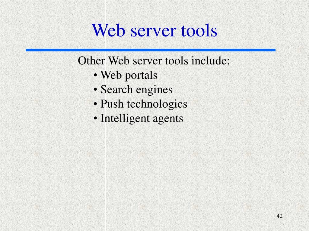 Web server tools