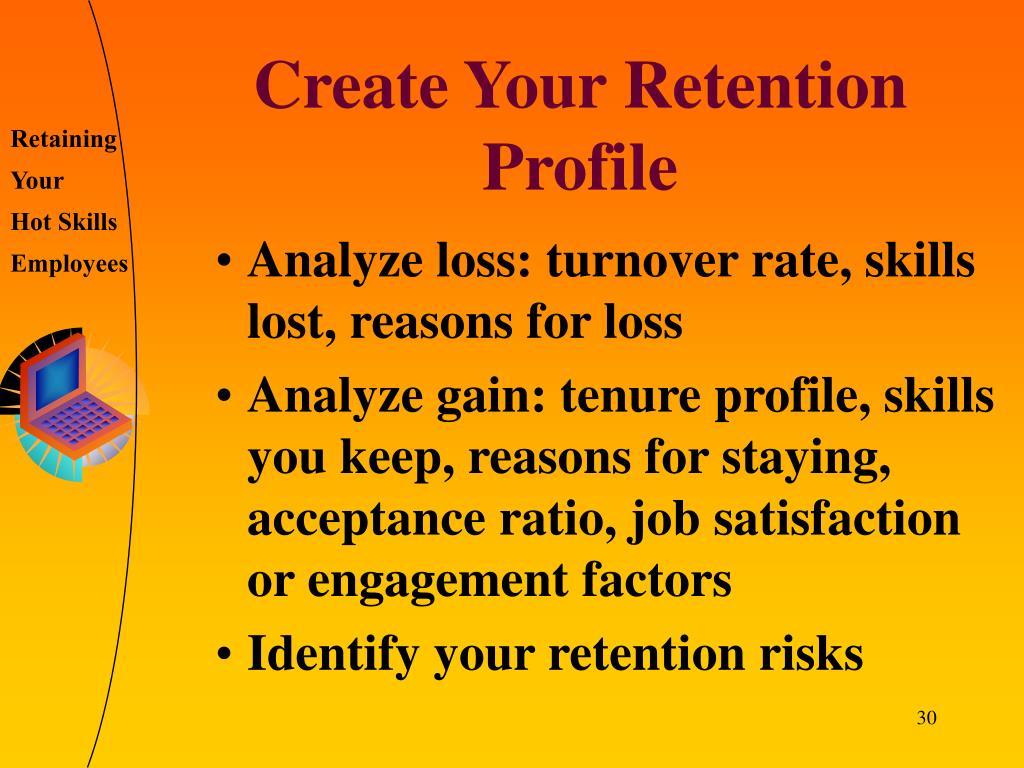 Create Your Retention Profile