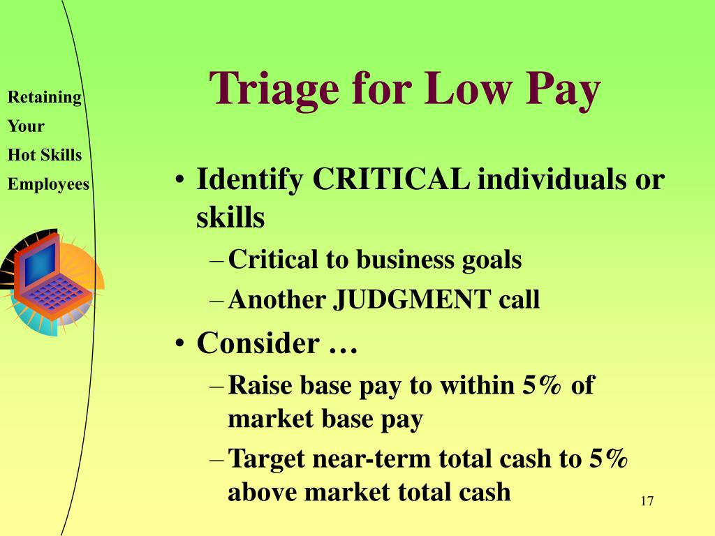 Triage for Low Pay