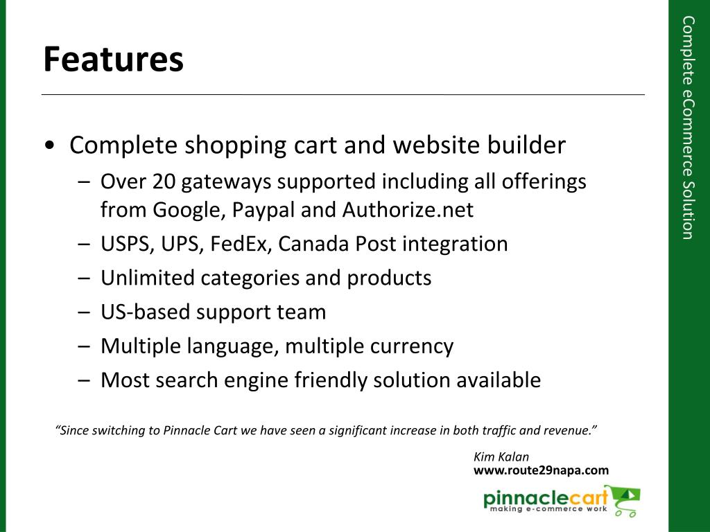 Complete shopping cart and website builder