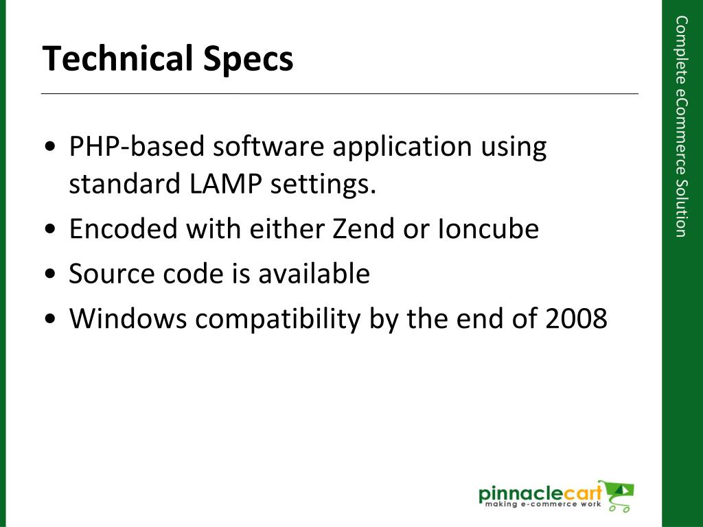 PHP-based software application using standard LAMP settings.